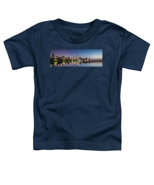 Chicago Skyline At Dawn With A Panoramic Crop  Toddler T-Shirt