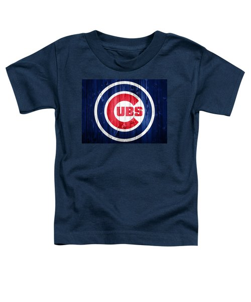 Chicago Cubs Barn Door Toddler T-Shirt by Dan Sproul