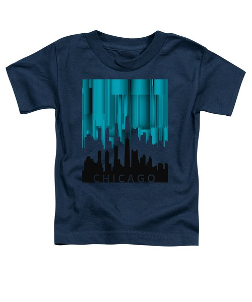 Chicago Turqoise Vertical In Negetive Toddler T-Shirt