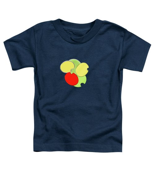 Circles Of Red, Yellow And Green Toddler T-Shirt