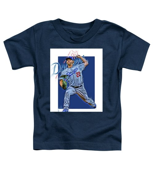Clayton Kershaw Los Angeles Dodgers Oil Art Toddler T-Shirt