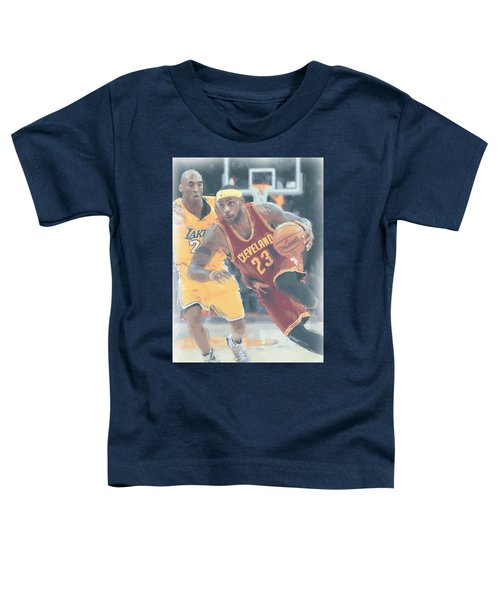 Cleveland Cavaliers Lebron James 3 Toddler T-Shirt by Joe Hamilton