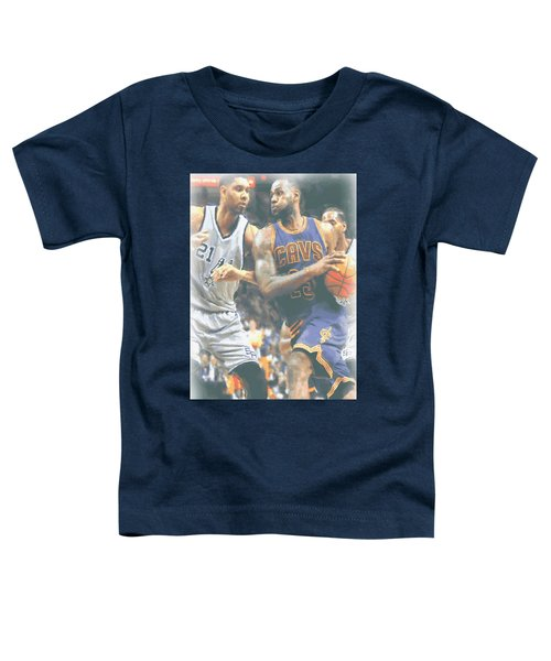 Cleveland Cavaliers Lebron James 4 Toddler T-Shirt by Joe Hamilton