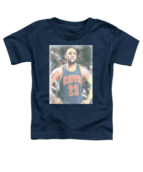 Cleveland Cavaliers Lebron James 5 Toddler T-Shirt by Joe Hamilton