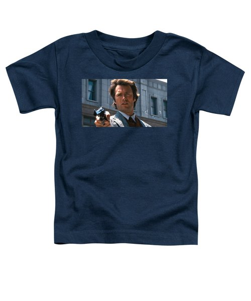 Clint Eastwood With 44 Magnum Dirty Harry 1971 Toddler T-Shirt