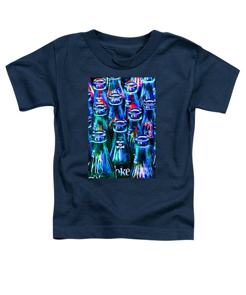 Coca-cola Coke Bottles - Return For Refund - Painterly - Blue Toddler T-Shirt