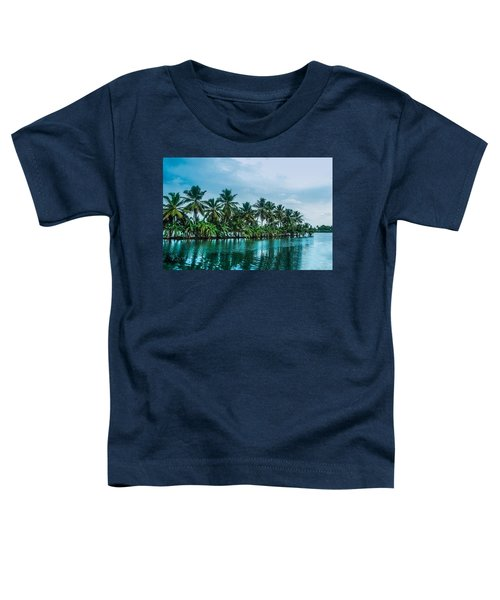 Coconut Trees Reflection At Backwaters Of Kerala, India Toddler T-Shirt