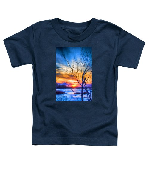 Colorful Cold Sunset Toddler T-Shirt