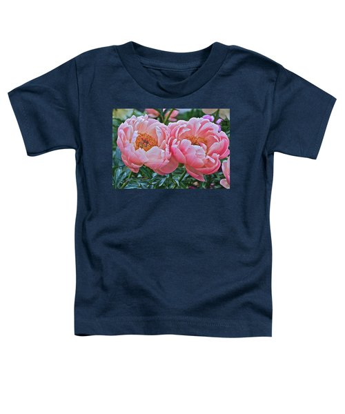 Coral Duo Peonies Toddler T-Shirt