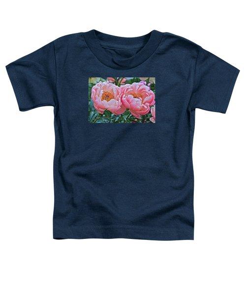 Coral Duo Peonies Toddler T-Shirt