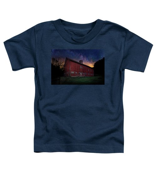 Toddler T-Shirt featuring the photograph Cosmic Barn by Bill Wakeley