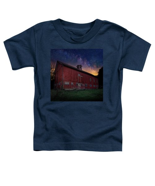 Toddler T-Shirt featuring the photograph Cosmic Barn Square by Bill Wakeley