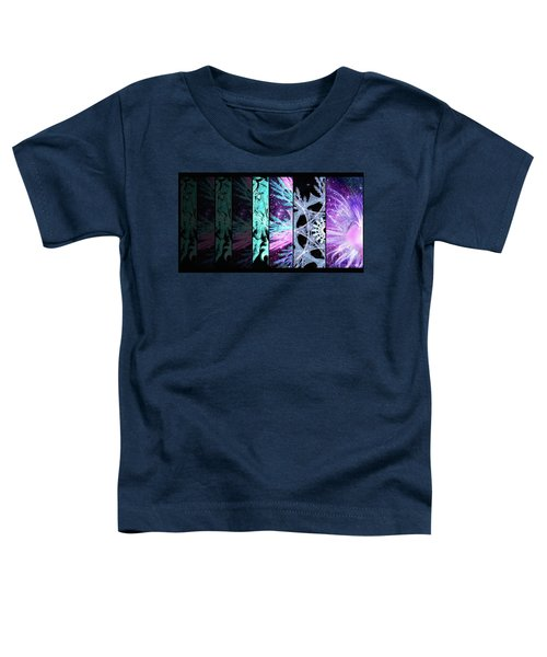 Toddler T-Shirt featuring the mixed media Cosmic Collage Mosaic Left Side by Shawn Dall