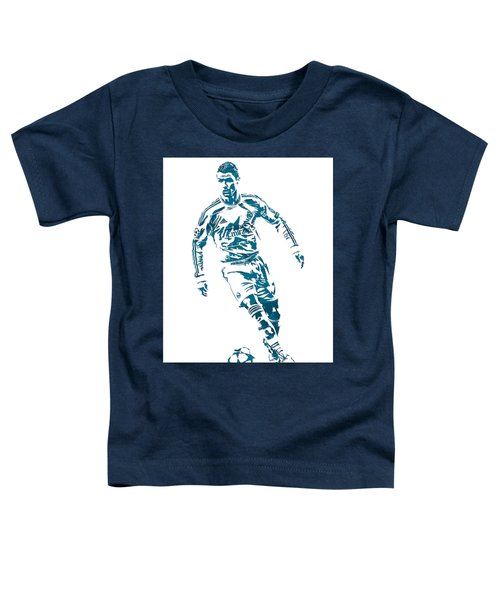 Cristiano Ronaldo Real Madrid Pixel Art 1 Toddler T-Shirt