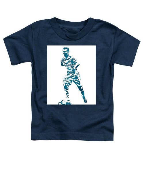 Cristiano Ronaldo Real Madrid Pixel Art 3 Toddler T-Shirt