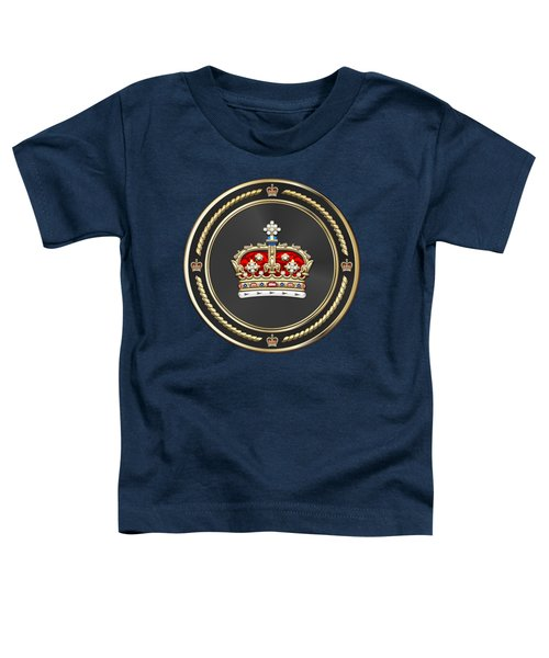 Crown Of Scotland Over Blue Velvet Toddler T-Shirt