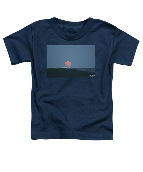 Cruising On A Wave During Harvest Moon Toddler T-Shirt