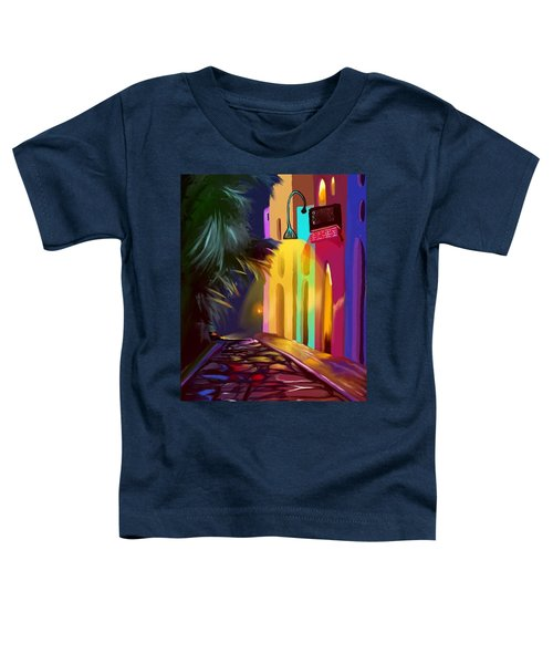Toddler T-Shirt featuring the digital art Cubano Street by Gerry Morgan