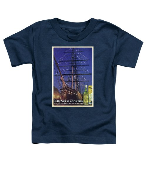 Cutty Sark Christmas Vintage Ad Toddler T-Shirt