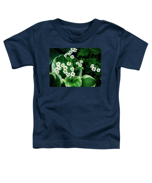 Daisies And Hosta In Colour Toddler T-Shirt
