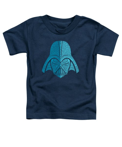 Darth Vader - Star Wars Art - Blue Navy Toddler T-Shirt