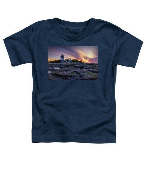Dawn Breaking At Marshall Point Lighthouse Toddler T-Shirt