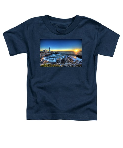 Dawn At Portland Head Lighthouse Toddler T-Shirt