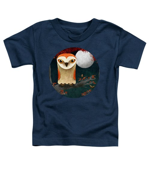 Deep In The Night Owl Eyes Bright Toddler T-Shirt