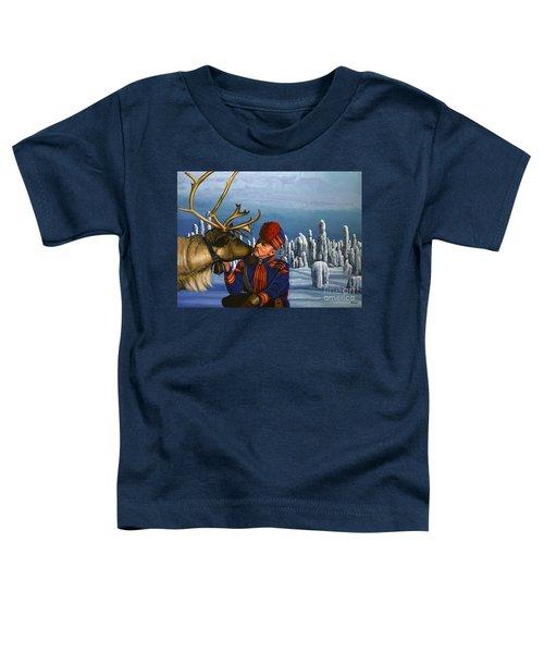 Deer Friends Of Finland Toddler T-Shirt