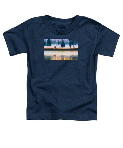 Deer Morning Toddler T-Shirt