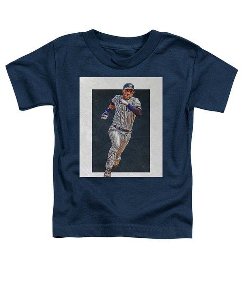 Derek Jeter New York Yankees Art 3 Toddler T-Shirt