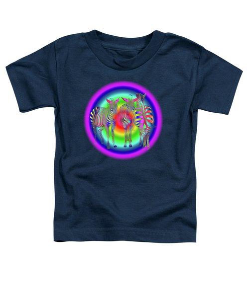 Disco Zebra Pop Art Toddler T-Shirt by Gill Billington