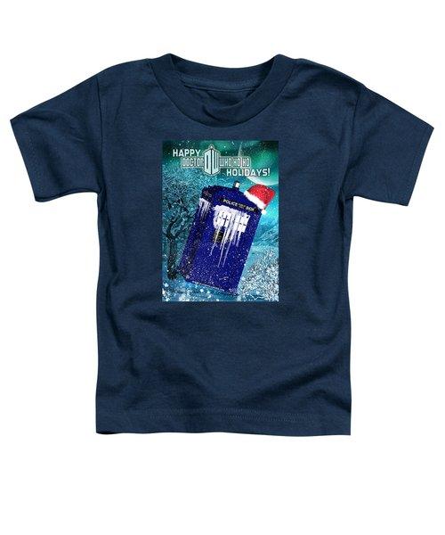 Doctor Who Tardis Holiday Card Toddler T-Shirt