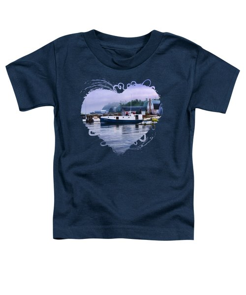 Toddler T-Shirt featuring the painting Door County Gills Rock Fishing Village by Christopher Arndt