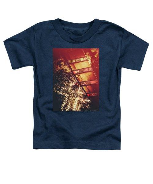 Double Crossing Crime Scene Investigation Toddler T-Shirt