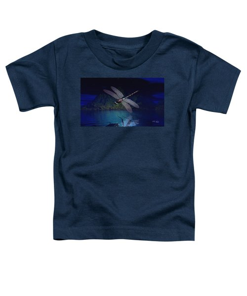 Dragonfly Night Reflections Toddler T-Shirt
