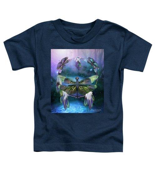 Dream Catcher - Spirit Of The Dragonfly Toddler T-Shirt