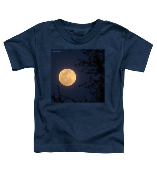 Early #evening #fullmoon On April 4th Toddler T-Shirt