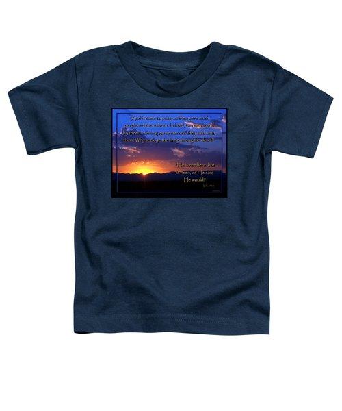 Easter Sunrise - He Is Risen Toddler T-Shirt