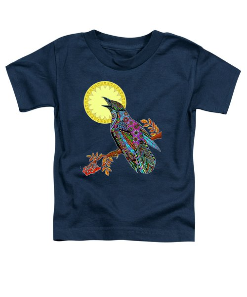 Electric Crow Toddler T-Shirt by Tammy Wetzel