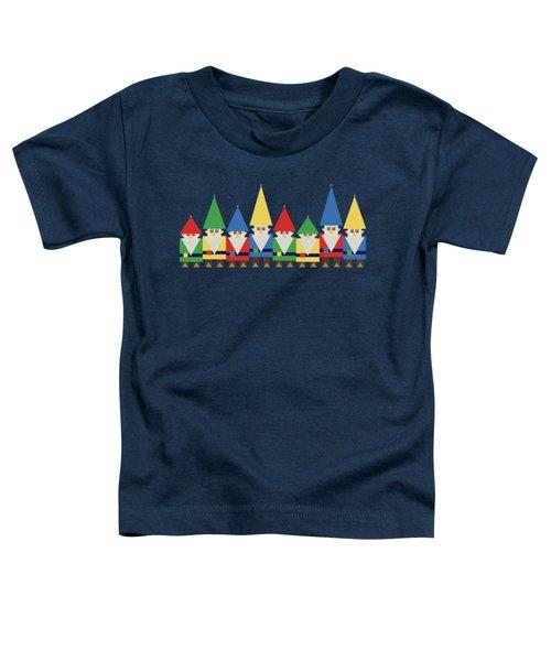 Elves On Blue Toddler T-Shirt