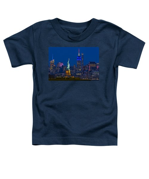 Empire State And Statue Of Liberty II Toddler T-Shirt