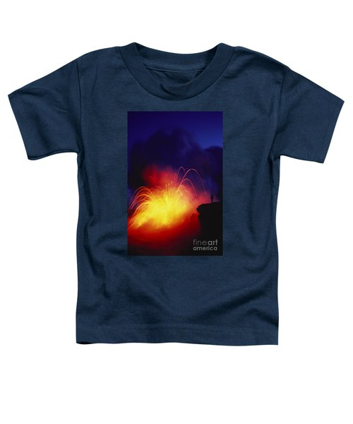 Exploding Lava And Person Toddler T-Shirt by Greg Vaughn - Printscapes