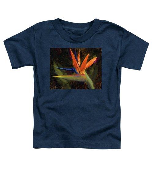 Extravagance - Tropical Bird Of Paradise Flower Toddler T-Shirt