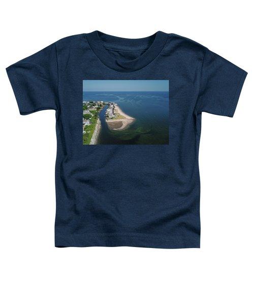 Fairfield Beach Aerial Photo Toddler T-Shirt