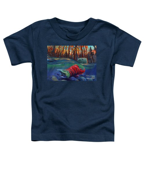 Fall Salmon Fishing Toddler T-Shirt