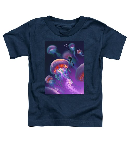 Toddler T-Shirt featuring the painting Fantasy Underworld by Tithi Luadthong