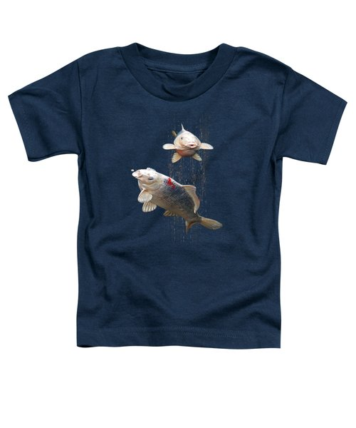 Feeding The Koi Toddler T-Shirt by Gill Billington