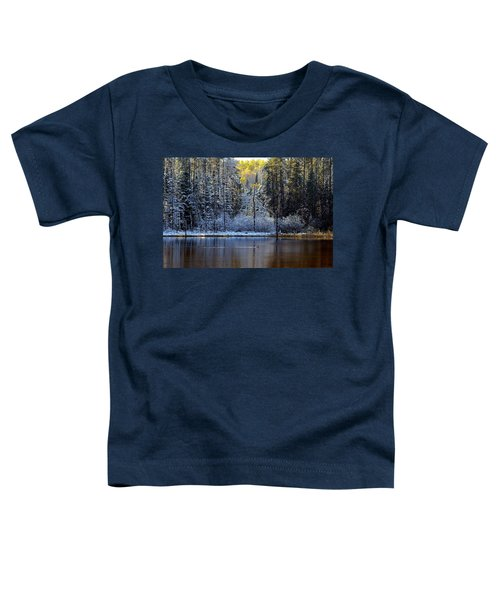Toddler T-Shirt featuring the photograph First Snow by Doug Gibbons