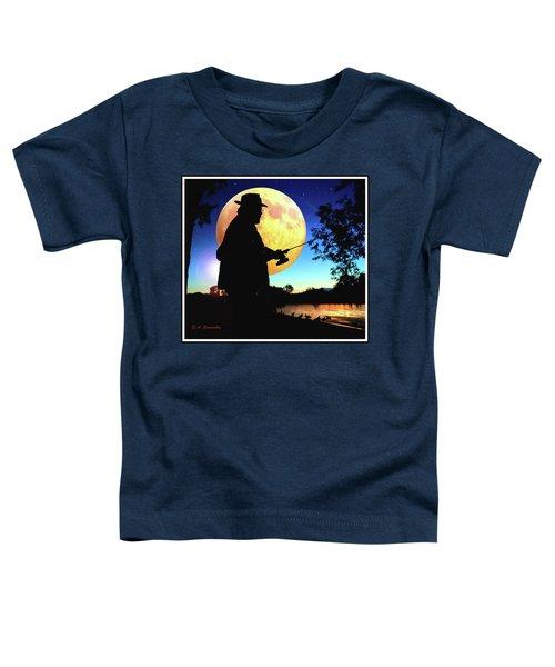 Fisherman In The Moolight Toddler T-Shirt